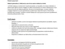 Offre d'emploi d'assistant en médecine générale