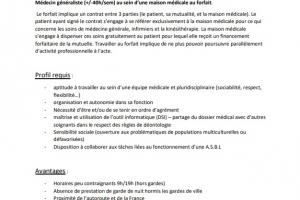Offre d'emploi de médecin généraliste